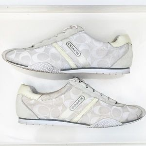 Authentic Coach Kelson sneakers in Creme size 9